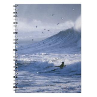 USA Washington State La Push Man kayak Spiral Notebook