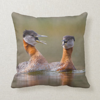USA, Washington State. Mated Red-Necked Grebes Pillow