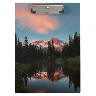 USA, Washington State. Mt. Rainier Reflected Clipboard