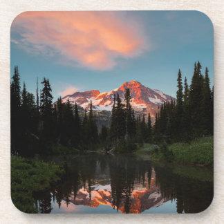 USA, Washington State. Mt. Rainier Reflected Coasters