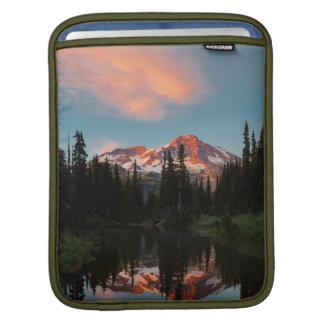 USA, Washington State. Mt. Rainier Reflected iPad Sleeves