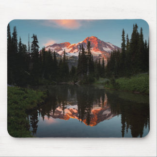 USA, Washington State. Mt. Rainier Reflected Mouse Pad