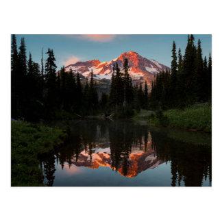 USA, Washington State. Mt. Rainier Reflected Postcard