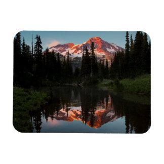 USA, Washington State. Mt. Rainier Reflected Vinyl Magnet