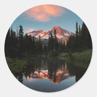USA, Washington State. Mt. Rainier Reflected Sticker