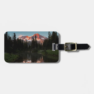 USA, Washington State. Mt. Rainier Reflected Tags For Luggage