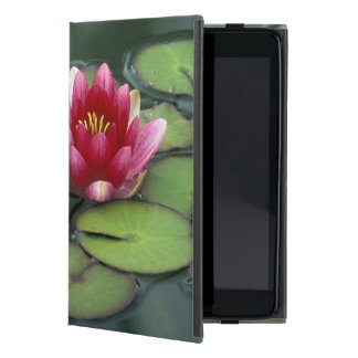 USA, Washington State, Seattle. Water lily and Case For iPad Mini