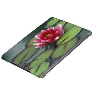 USA, Washington State, Seattle. Water lily and iPad Air Cases