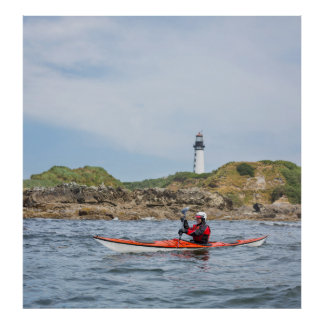 USA, Washington State. Woman Sea Kayaker Posters
