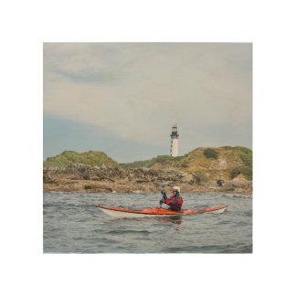 USA, Washington State. Woman Sea Kayaker Wood Prints