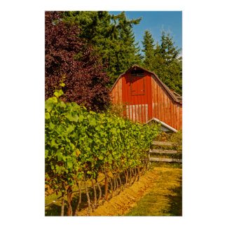 USA, Washington, Whidbey Island. Winery Poster