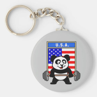 USA Weightlifting Panda Keychain