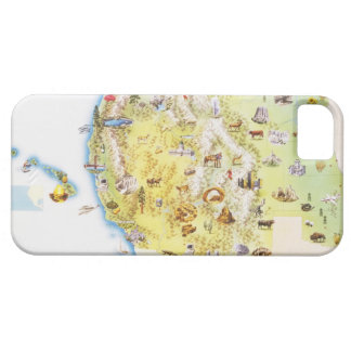 USA, western states of America, map iPhone 5 Cases