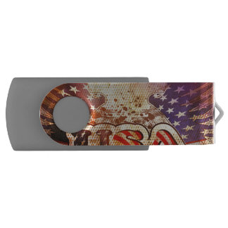 USA with wings USB Flash Drive