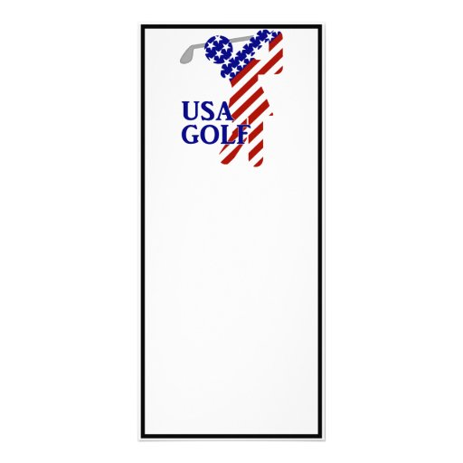 USA Woman Golfer - Golf Symbol Custom Rack Cards