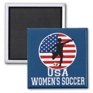 USA Women's Soccer Square Magnet