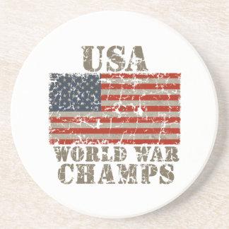 USA, World War Champions Beverage Coaster