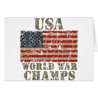 USA, World War Champions Greeting Cards
