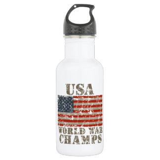 USA, World War Champions 18oz Water Bottle