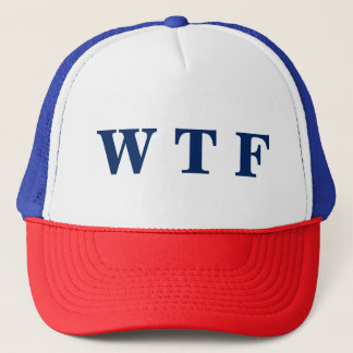 USA WTF Red White & Blue Trucker Hat