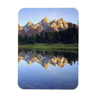 USA, Wyoming, Grand Teton National Park. Grand Rectangular Photo Magnet