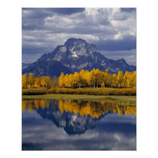 USA, Wyoming, Grand Teton NP. Against the Poster