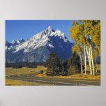 USA, Wyoming, Grand Teton NP. Teton Parkway Poster