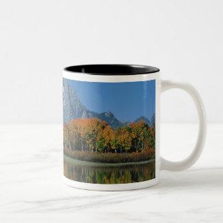 USA, Wyoming, Grand Tetons National Park in 4 Two-Tone Coffee Mug