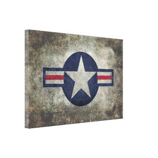 USAF Classic retro style Roundel Canvas Print