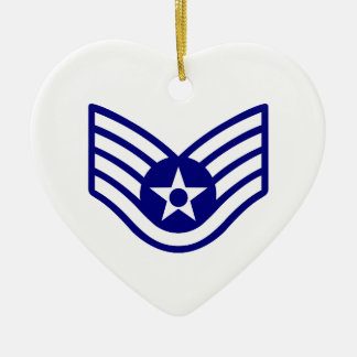 USAF E-5 STAFF SERGEANT CERAMIC ORNAMENT