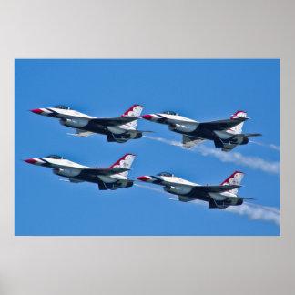 USAF Thunderbirds Diamond Side Poster