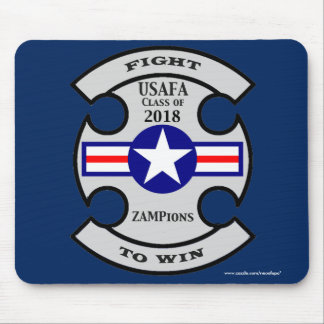 """USAFA Class of 2018 """"ZAMPions"""" Mouse Pad"""