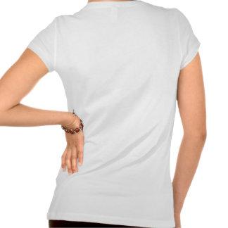 Usage rose du logo des dames t shirts
