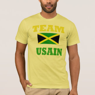 usain bolt mens light yellow t-shirt