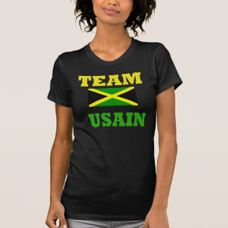 usain bolt women's black t-shirt