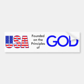 USALetters-lg, Founded on the Principles of, G,... Bumper Sticker