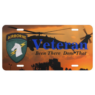 USASOC 1st Special Ops Delta Force  veterans vets License Plate