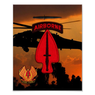 USASOC Special Ops veterans vets lrrps lrrp recon Poster