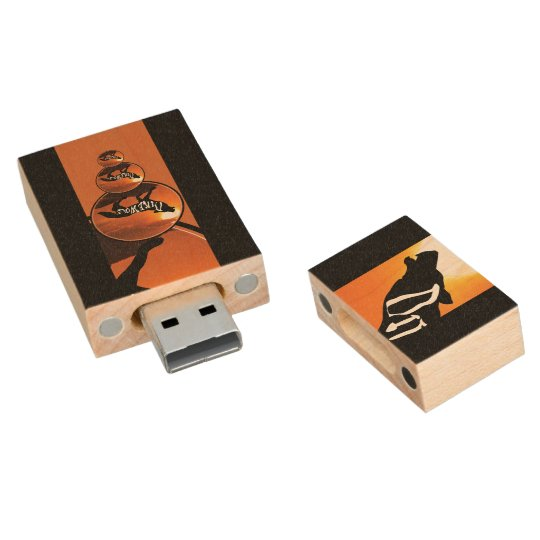 USB 2.0 DIREWOLF 2 WOOD USB FLASH DRIVE