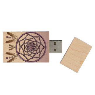 USB 2.0 DREAMCATCHER WOOD USB 2.0 FLASH DRIVE