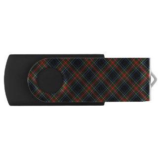 USB 3 Thumb Drive Sargent Black Tartan Swivel USB 3.0 Flash Drive