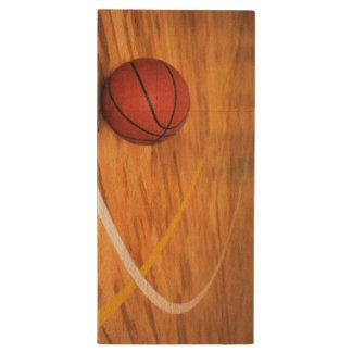 USB Drive Basketball Life Wood USB 2.0 Flash Drive