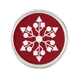 USB snowflake Lapel Pin