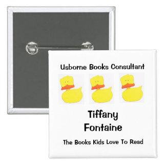 usborne books duck name tag 2 2 inch square button