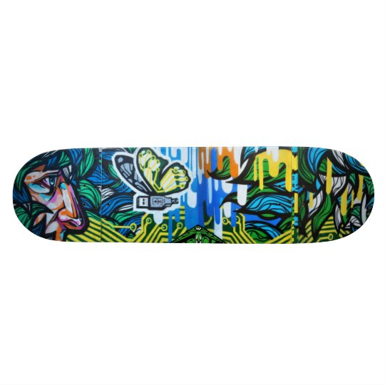 USButterfly Watching - Street Art Sk8 Deck Skateboard