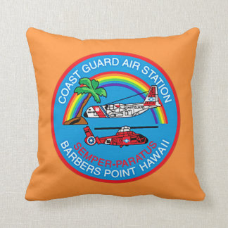 USCG Air Station Barbers Point Hawaii Flight Crew Throw Pillow