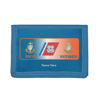 USCG Chief Petty Officer Retired Shield Trifold Wallets