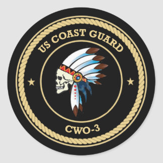 USCG Chief Warrant Officer 3 Classic Round Sticker