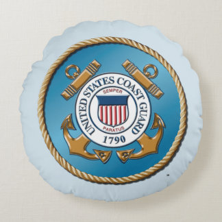 "USCG Grade A Cotton Round Throw Pillow (16"")"