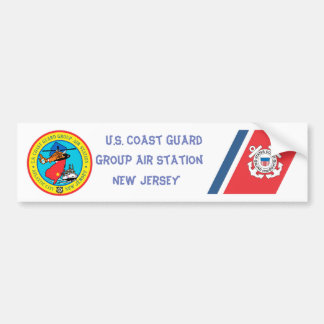 USCG Group Air Station New Jersey Bumper Sticker